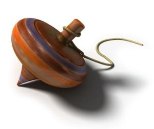 Antique spinning top (Public Domain image - Clip Art)