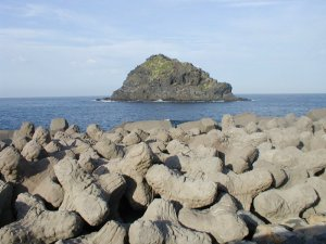 Breakwaters. North of Tenerife.