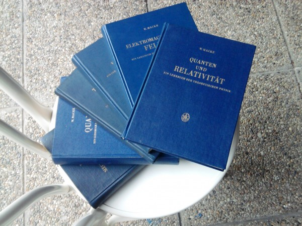 6 volumes on all of Theoretical Physics - 1960s self-consistent series by my late professor Wilhelm Macke