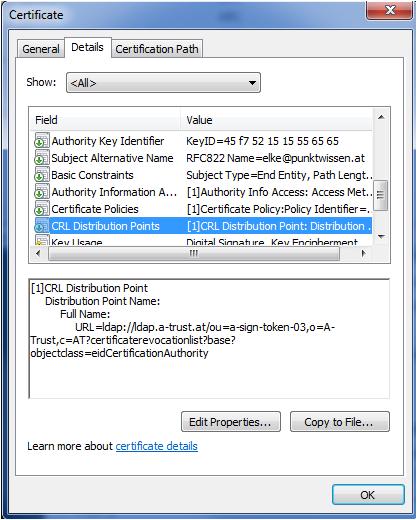 LDAP CDP URL