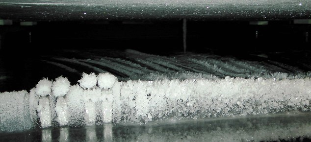 Ice in the underground water tank, 2015-02-09