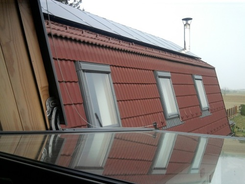 PV modules on south-east roof