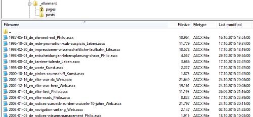 New website: Flat-file database.