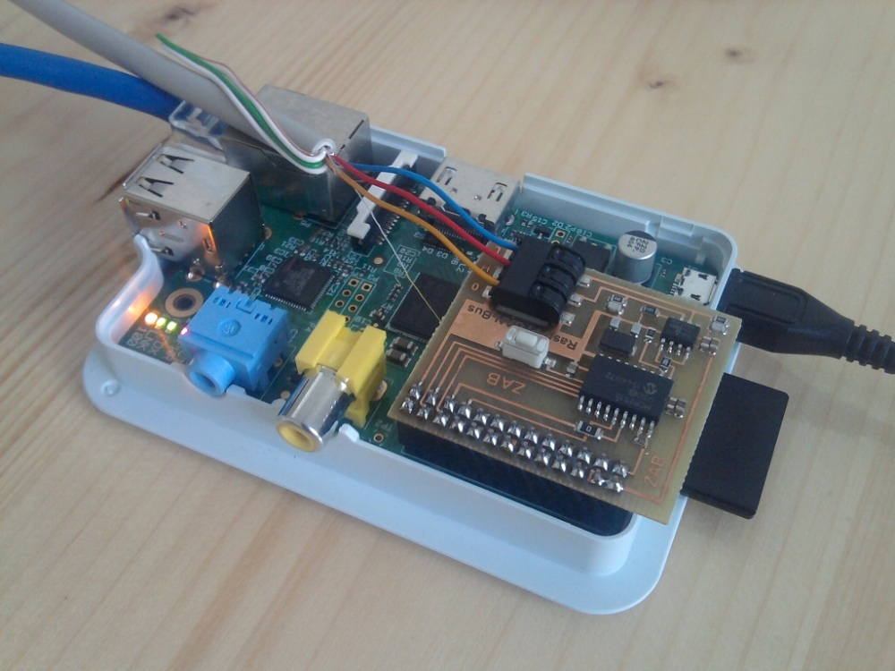 Raspberry Pi plus CAN board